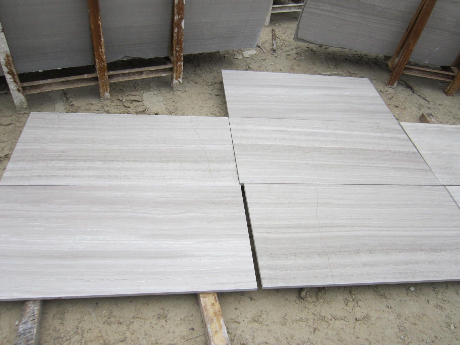 White wooden Marble tiles for bathroom flooring