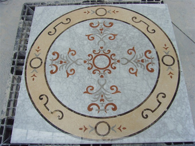 Stone medallion for hospitality renovationi