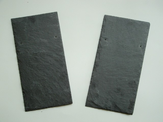 Black slate roofing tile