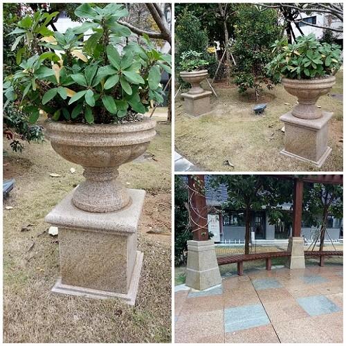 Yellow Granite Folower Pot  for Garden