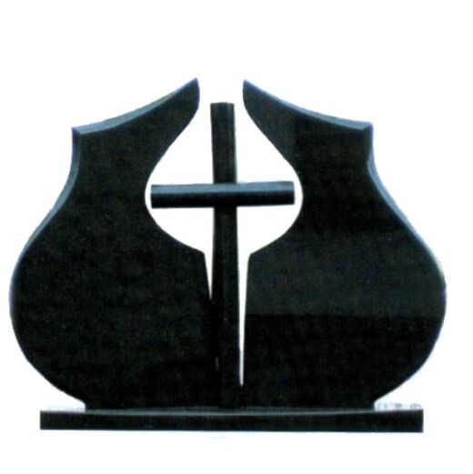 Polished Black Granite Book Style Tombstone