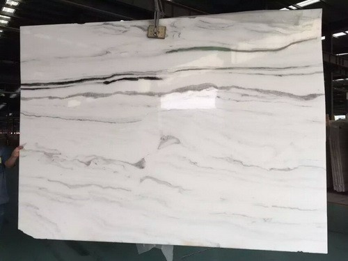 White Marble Slab for Waterfall Island /Wall in Ki