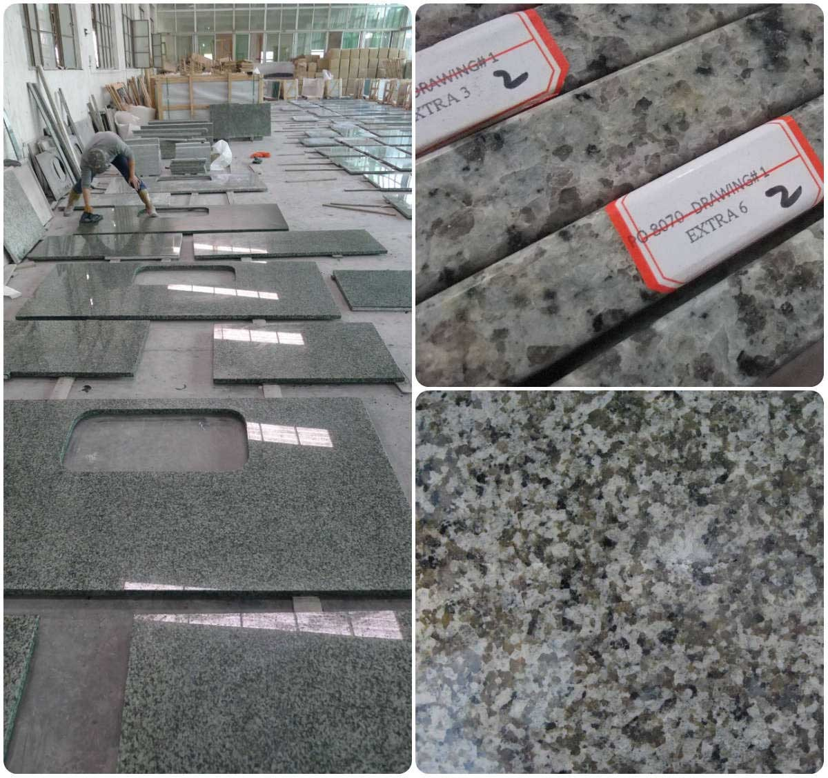 China Green Jiangxi Green Granite Countertops Vani