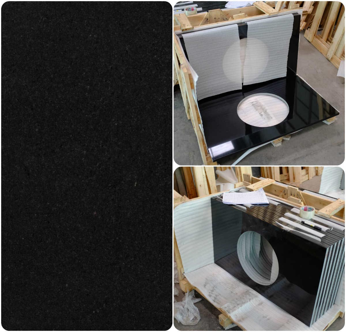 Chinese Shanxi Black Granite Vanity Tops/Counterto
