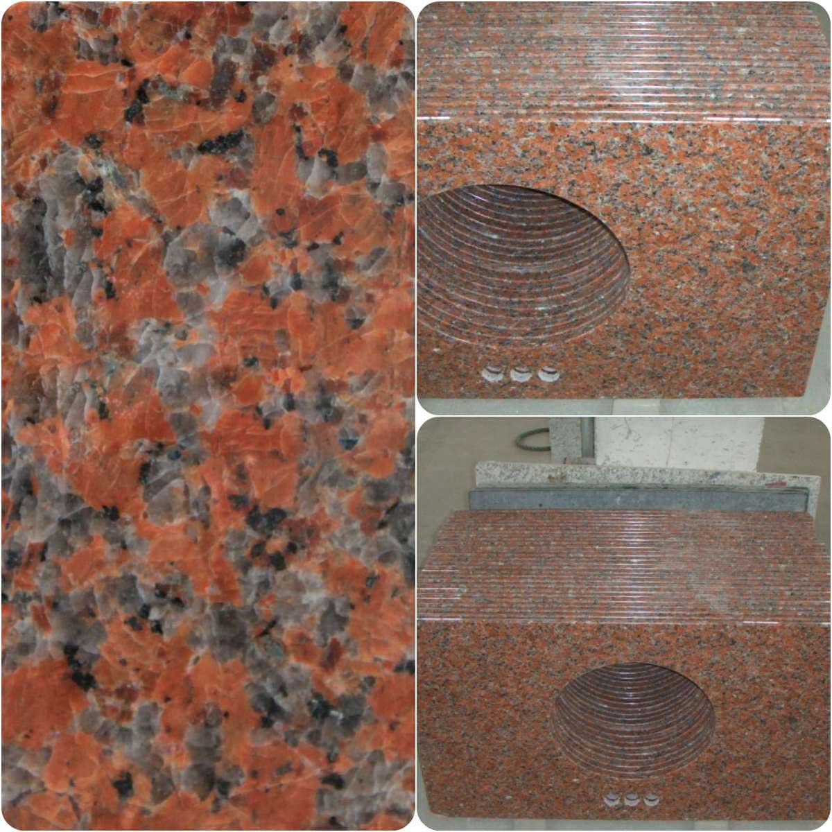 G562 Maple Red Granite Vaniy Top Countertops for B